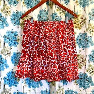 H&M orange leopard print high waisted skirt